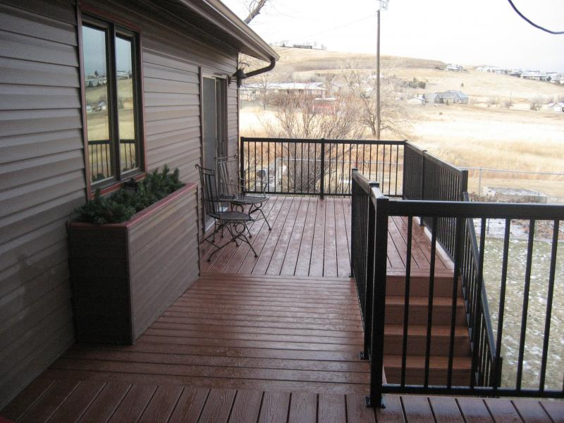 We rebuilt this deck with maintanance free materials